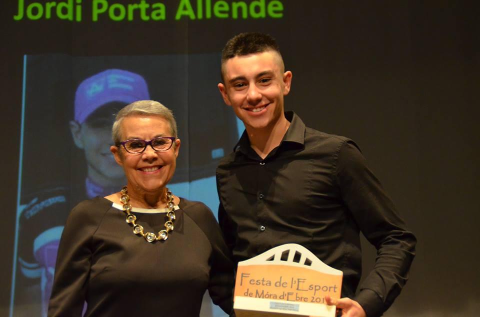 Jordi Porta, guardonat a la Festa de l'Esport de Móra d'Ebre de 2015.