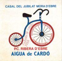 Enganxina per anuncia la I Pujada a Cardó, celebrada el 4 de novembre de 1984