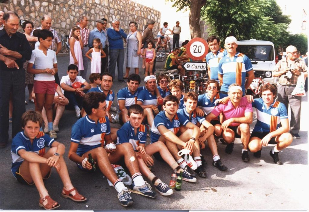 Marxa de l'Hospitalet de l'Infant 1984. Rasquera. Penya Ciclista Ribera d'Ebre