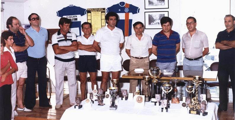Presentació de la 1a Volta Ciclista a la Ribera d'Ebre, celebrada el 19 d'agost de 1984.