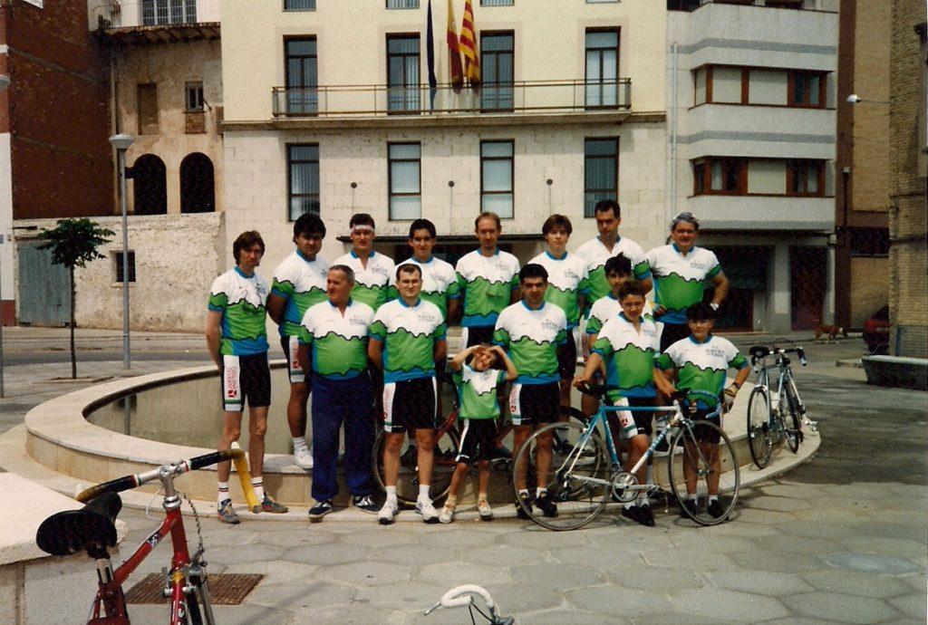 Presentació de la nova equipació. 1992 Penya Ciclista Ribera d'Ebre
