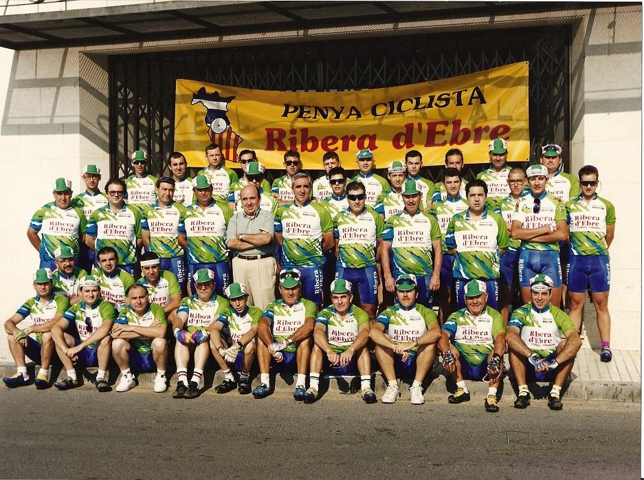 Presentació de la nova equipació 1996.Penya Ciclista Ribera d'Ebre