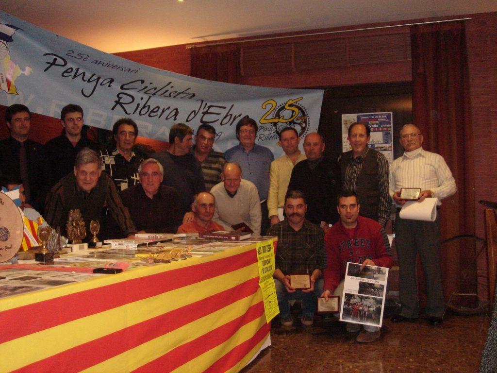 Sopar per celebrar el 25è aniversari de la Penya Ciclista Ribera d'Ebre