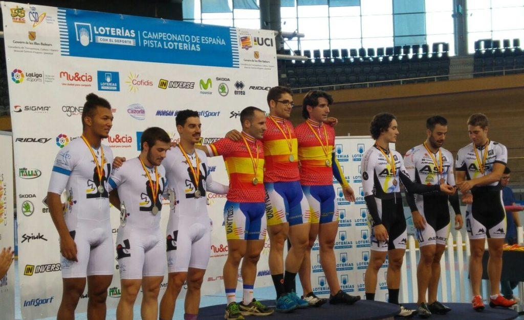 Manu Usach 2016 Campió d'Espanya de velocitat per equips