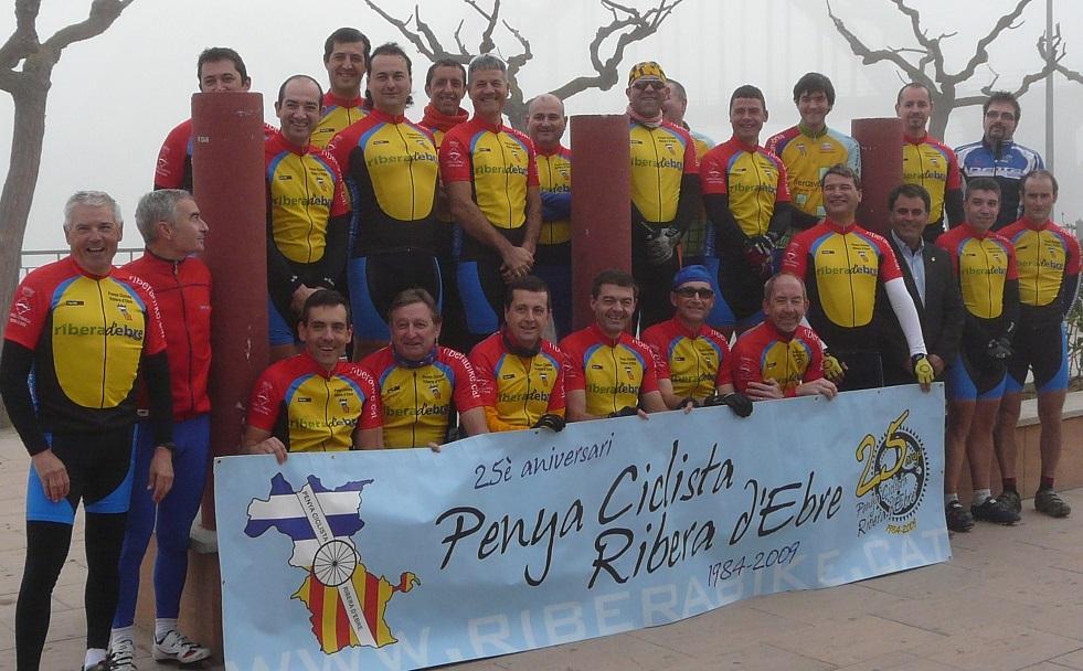 Presentació de la nova equipació. 2010. Penya Ciclista Ribera d'Ebre