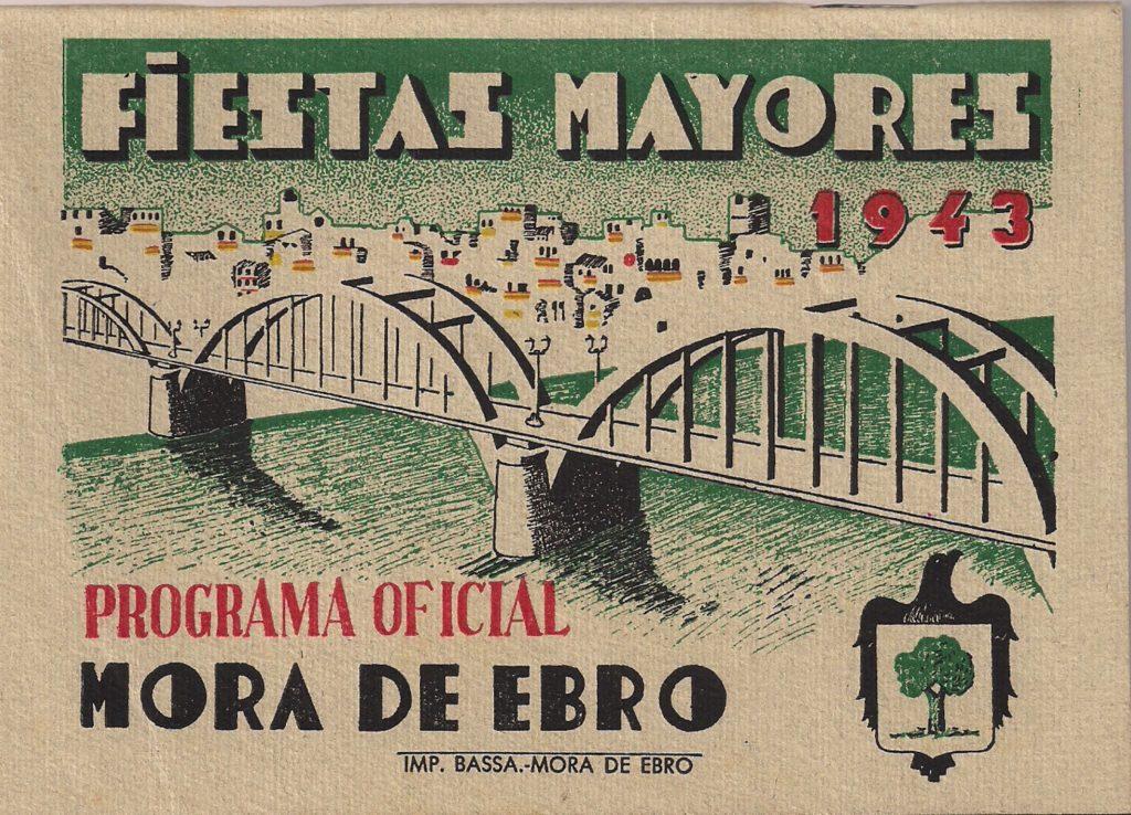 Programa de la Festa Major de Móra d'Ebre de l'any 1943