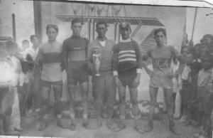 Els nostres avantpassats. Benito Montagut-Ramon Ardevol-Nicolau Tubau ciclistes de Móra d'Ebre.