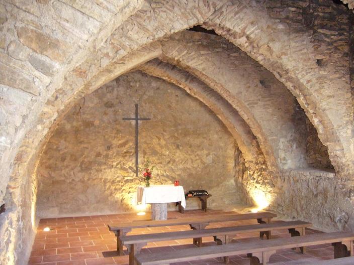 Vista actual de l'ermita de Santa Magdalena de Móra d'Ebre