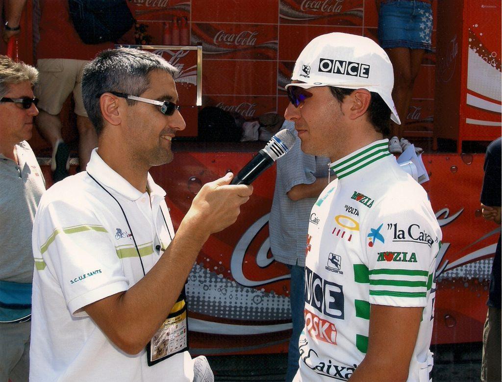Xavier Florencio a la sortida de la segona etapa de la Volta Ciclista a Catalunya, 17 de juny de 2003