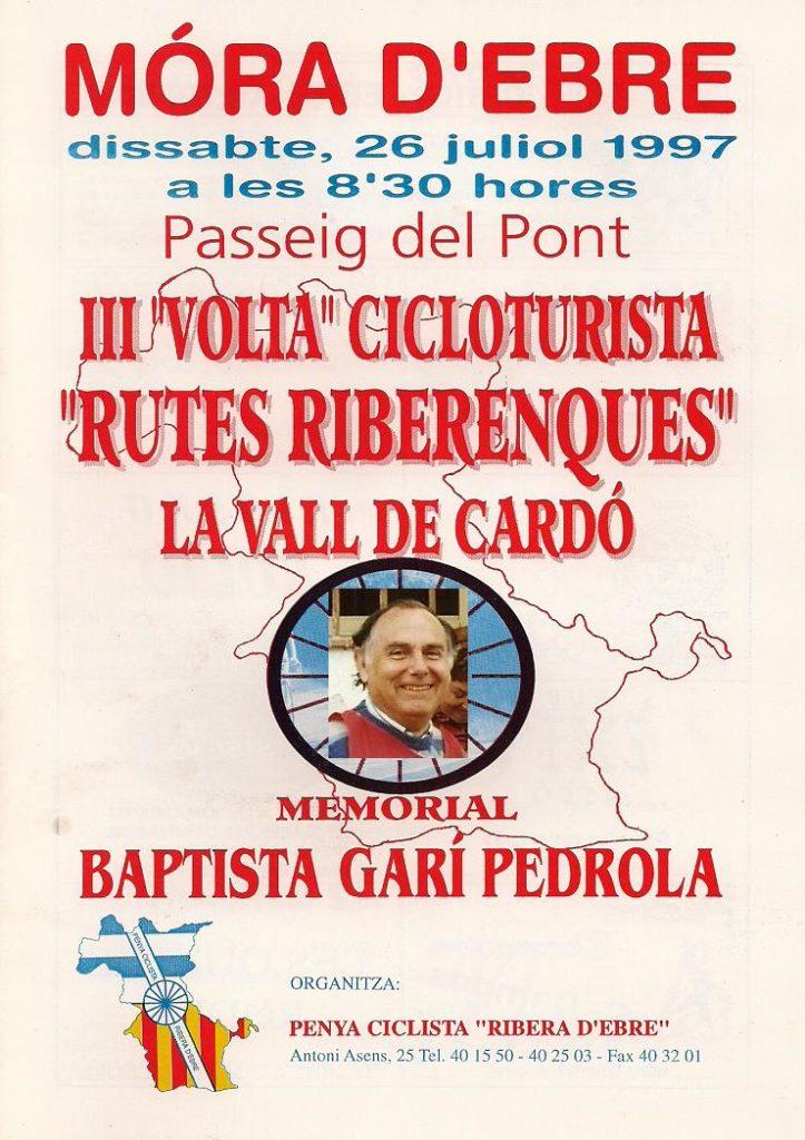 Portada 1r Memorial Baptista Garí Marxa Rutes Riberenques 1997