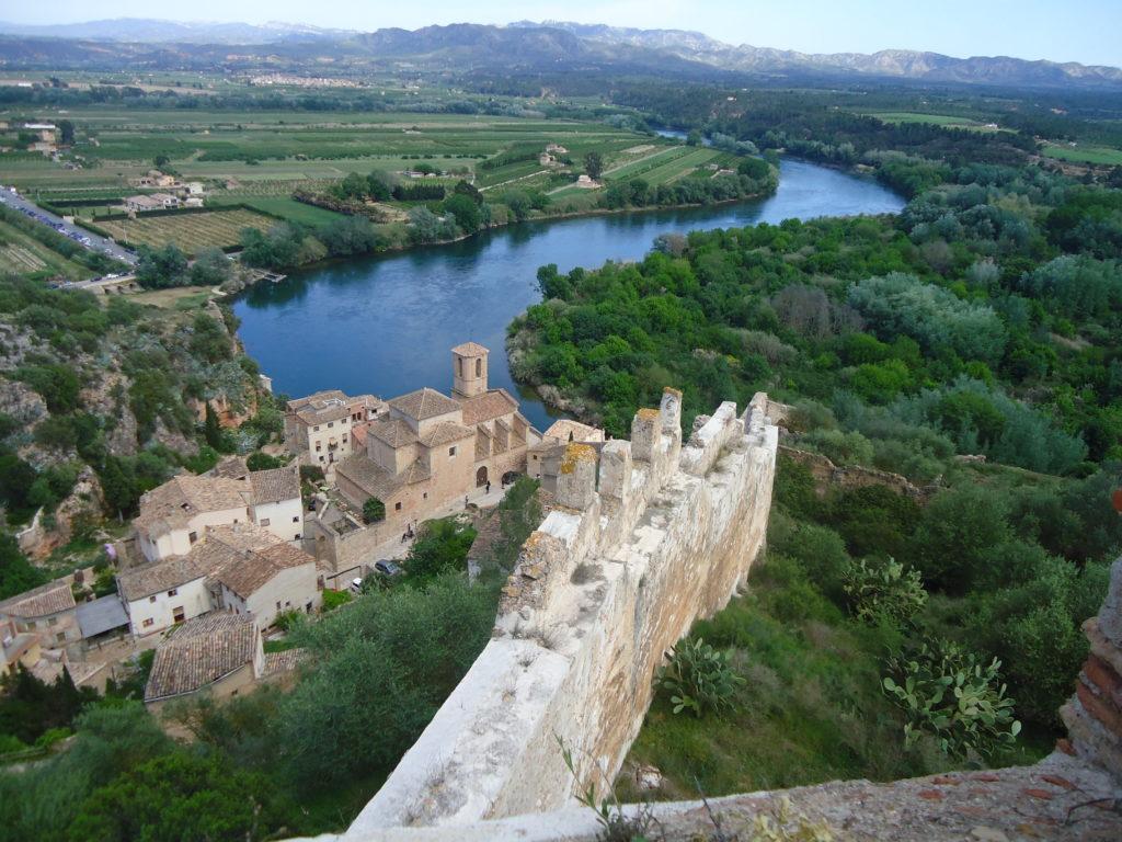 Vista des del Castell de Miravet
