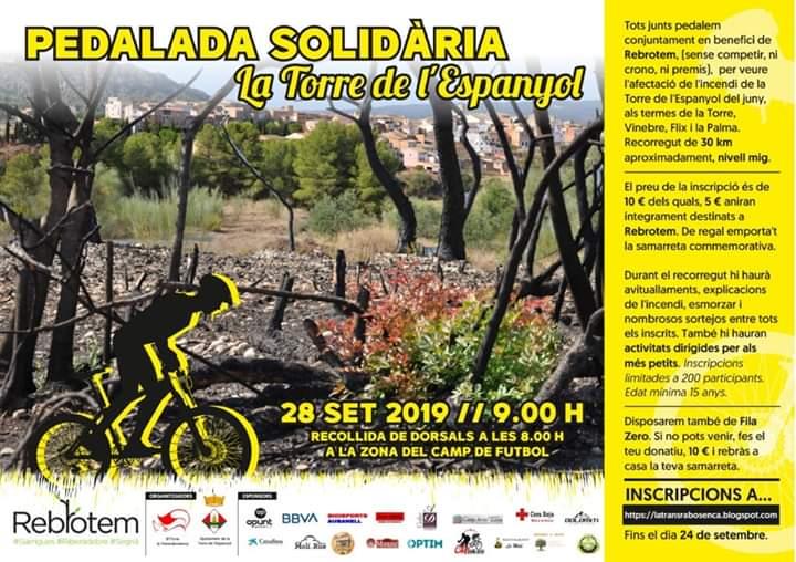 Pedalada solidària La Torre de l'Espanyol